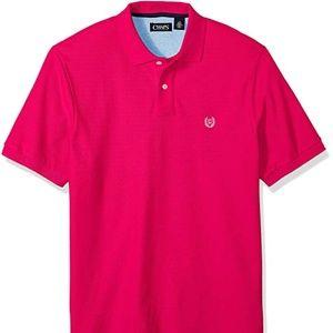 Chaps Short Sleeve Pink Pique Polo Shirt Size XL